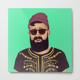 The Israeli Hipster leaders - Ovadia Yosef Metal Print