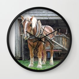 Stacking for Winter Wall Clock
