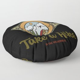 Take a hike in the wilderness Floor Pillow