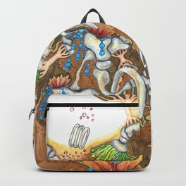 Underneath, are gardens too (brown) Backpack