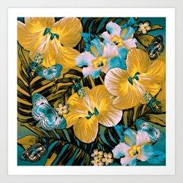 Golden Vintage Aloha Art Print