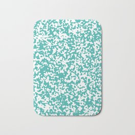 Small Spots - White and Verdigris Bath Mat