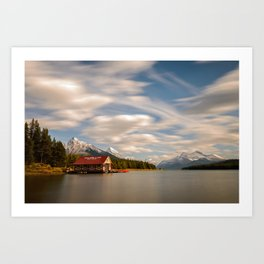 MALIGNE LAKE AUTUMN JASPER CANADA LANDSCAPE PHOTOGRAPHY Art Print