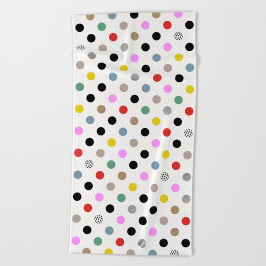 Coloured Dot Beach Towel