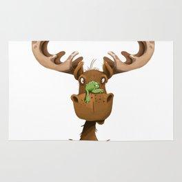 Moose Named Moe Rug