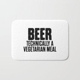 Beer Technically A Vegan Meal Bath Mat