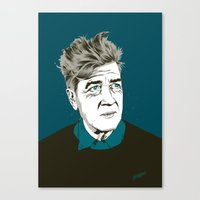 david lynch Canvas Prints featuring David Lynch by The Art Warriors