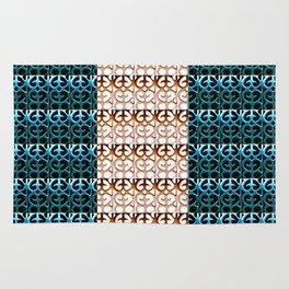Pattern reversed Blue Rug