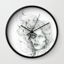 Wisp Skull Wall Clock