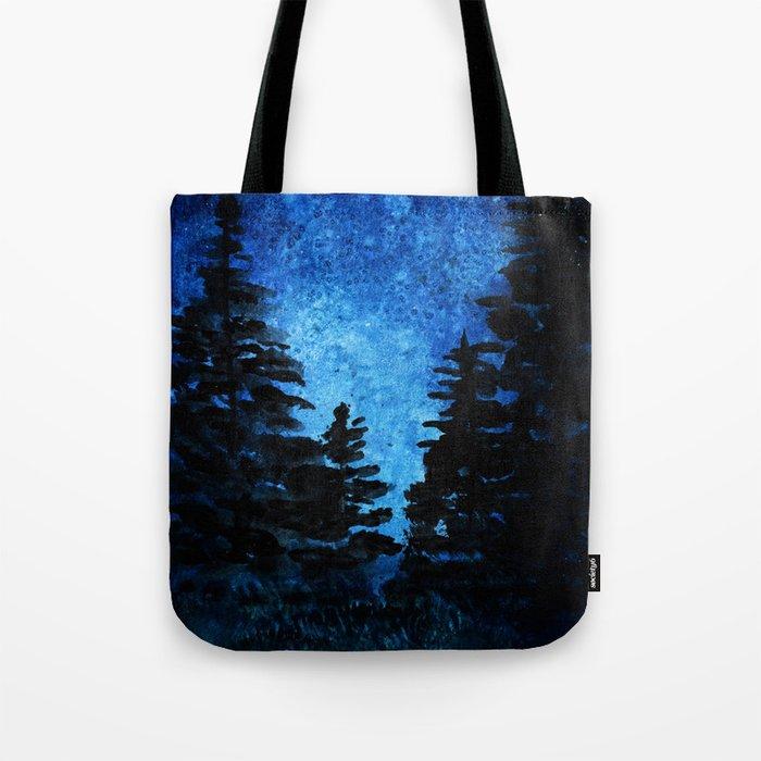 Blue Sky - Evergreen Trees Tote Bag