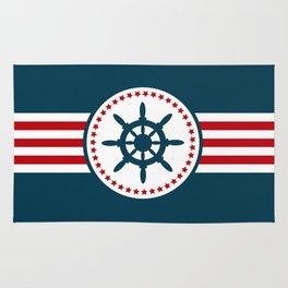 Sailing wheel 2 Rug