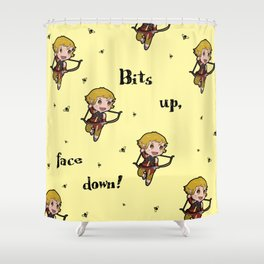 Bits up, face down! Sera Shower Curtain