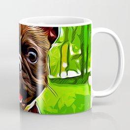 french bulldog basketball vector art Coffee Mug