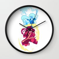 the last airbender Wall Clocks featuring Steven Universe x Avatar The Last Airbender by Matereya