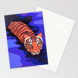 Tiger water Stationery Cards