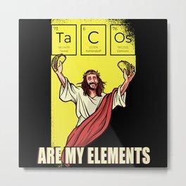 Tacos Taco Spicy Elements Metal Print