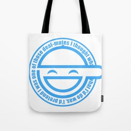 The Laughing Man Tote Bag