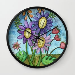 Spring storm Wall Clock