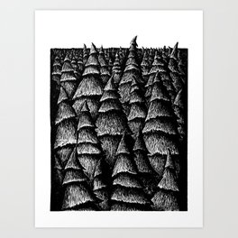 Beyond The Trees Art Print