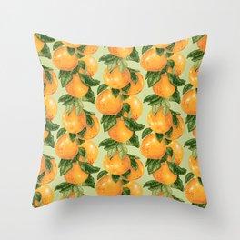 Grapefruit branches Throw Pillow