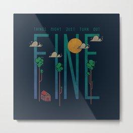 Beathe Metal Print