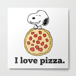 i love pizza Metal Print