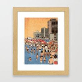 Tel Aviv Beach in the 80s Framed Art Print