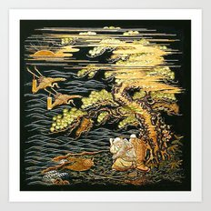 Oriental Landscape Art Print