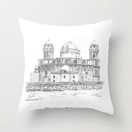 Catedral de Cádiz Throw Pillow