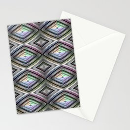 Bright symmetrical rhombus pattern Stationery Cards