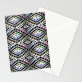 Bright symmetrical rhombus pattern Stationery Cards