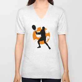 TENNIS Clay Backhand Balls Unisex V-Neck