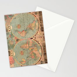 Vintage Map of The World (1883) Stationery Cards