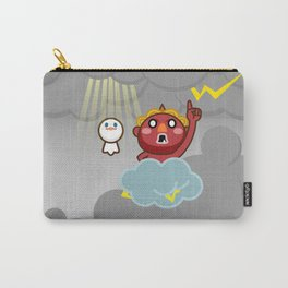 God of thunder! Stamp of Inazuma Mamehati. Carry-All Pouch