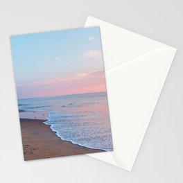 Pink ocean sunrise - minimalist landscape photography | Rehoboth Beach, DE Stationery Cards