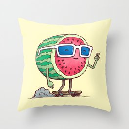 Watermelon Skater Throw Pillow
