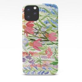 Garden Flowers Watercolor iPhone Case