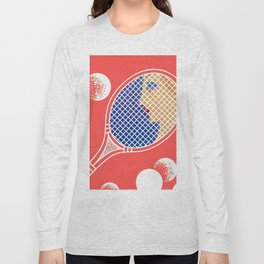 "Art Deco Design ""Love – Tennis Suite"" Long Sleeve T-shirt"
