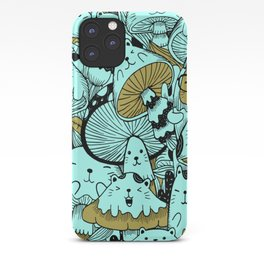 Japanese Cat Pattern iPhone Case