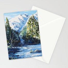 Landscape - The blue glacier - by LiliFlore Stationery Cards