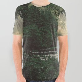 Pacific Northwest River - Nature Photography All Over Graphic Tee