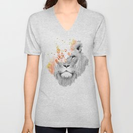 If I roar (The King Lion) Unisex V-Neck