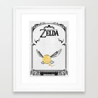 legend of zelda Framed Art Prints featuring Zelda legend - Navi by Art & Be