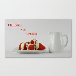 Fresas con crema Canvas Print