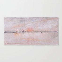 Merseyside Sunset Canvas Print