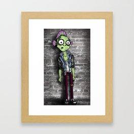 Scaly Fish Punk Framed Art Print