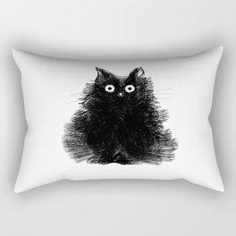 Duster - Black Cat Drawing Rectangular Pillow