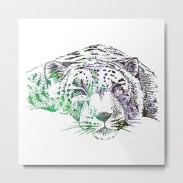 Watercolor Leopard Metal Print