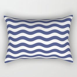 Blue Nautical Waves Rectangular Pillow