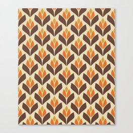 Retro Trefoil Pattern Canvas Print
